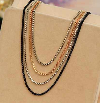 Necklaces Pendants Jewelry Multilayer Chain PUNK Silver Plated Vintage cc #C042 jewelry with real flowers jewelry onyxjewelry