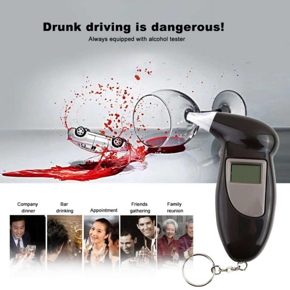 デジタル息アルコールテスター飲酒マウスピース吹いノズルキーホルダーアルコールテスターマウスピース