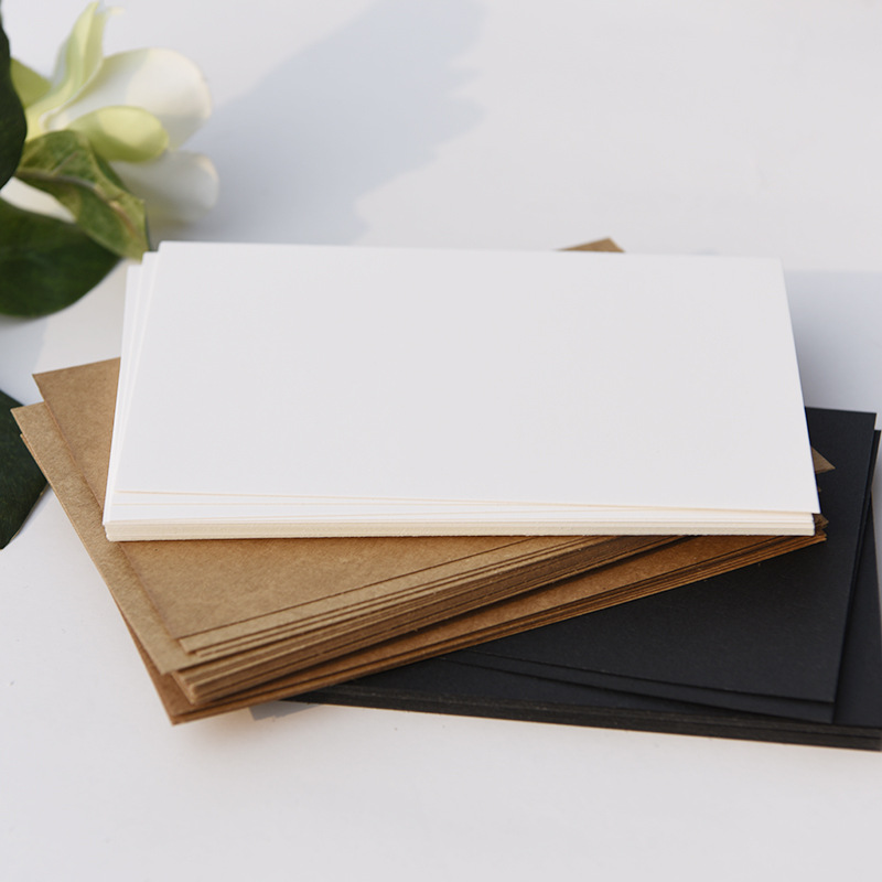 Blank Postcards DIY Cards DIY Brithday Greeting Drawing Cards Black Paper White Paper Kraft Paper 300G/M Arts And Crafts Paper