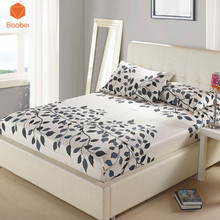 1Pcs Fitted Sheet Deep 26cm Mattress Cover Printed Bedding Linens Bed Sheets With Elastic Band Flamingos Bed sheet Home