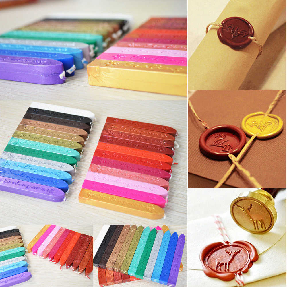 Colorful Sealing tick Candle Wick Envelope Home Wedding Party Event Decor Decorating Invitation Stamp Letter Card Tools