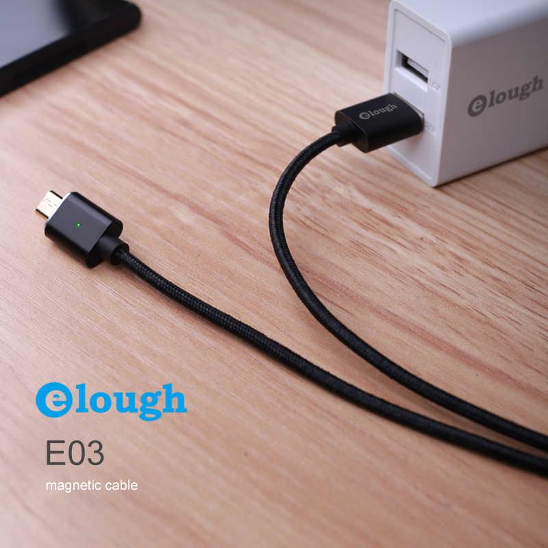 Elough E03 كابل مغناطيسي لسامسونج شاومي هواوي شاحن سريع الهاتف المحمول المغناطيس تهمة البيانات المصغّر usb كابلات USB سلك