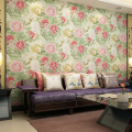 2017 new wallpaper modern Japan style Chinese peony flowers non-woven sitting room background