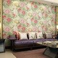 2017 nova Japão estilo Chinês peônia flores não-tecido papel de parede moderno fundo sala de estar