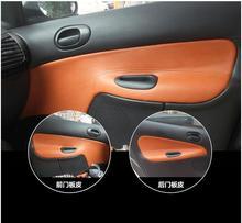 Microfibra In Pelle Pannello Porta Interna Bracciolo Copertura Per Peugeot 206 207 Citroen C2 AAB031