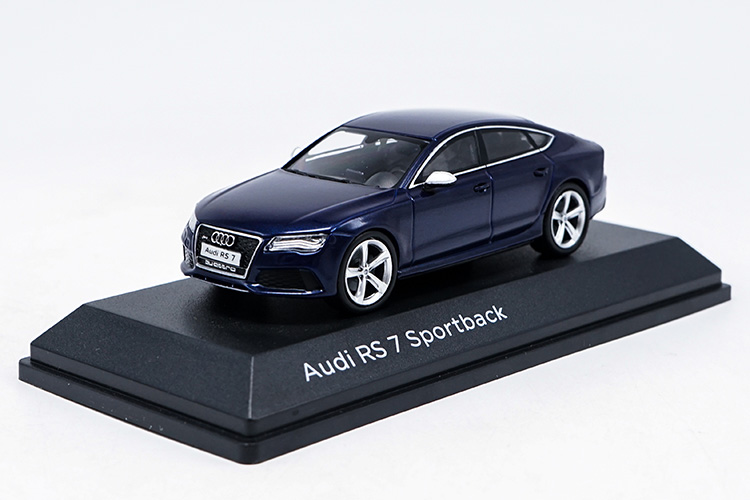1:43 Diecast Model for Audi RS7 Deep Blue Sportback Alloy Toy Car Miniature Collection Gifts 1 43 diecast model for mitsubishi eclipse spyder blue alloy toy car miniature collection gifts