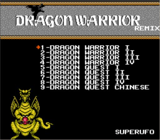 THE DRAGON WARRIOR REMIX 9 in 1 Game Cartridge for NES Console