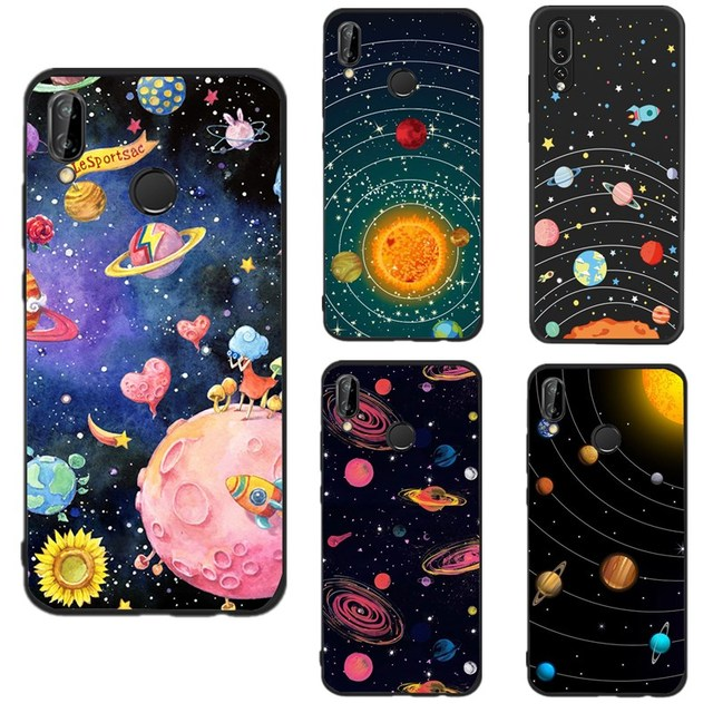 detailed look fd60e c0414 US $0.36 28% OFF|Soft Silicone Case for Huawei Mate 10 lite Fancy Space  Cute Girly Back Cover Coque For Huawei P9 lite mini Huawei P20 lite Y5  II-in ...