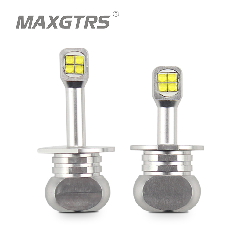 2x High Power H1 <font><b>H3</b></font> 880 881 40W <font><b>CREE</b></font> <font><b>LED</b></font> Chips Bulb Daytime Running Light 6000K White Car Fog Lamps DRL <font><b>LED</b></font> Lights Headlight image