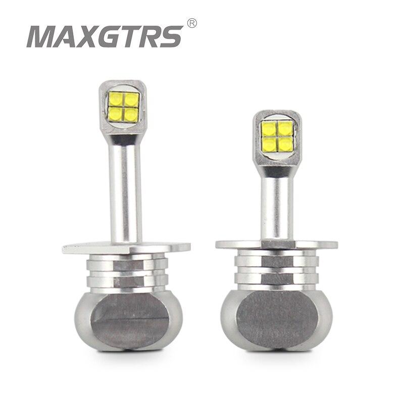 High Power H1 H3 40W CREE LED Chips Bulb Daytime Running Light 6000K White Car Fog Lamps DRL LED Lights Headlight DC 12/24V