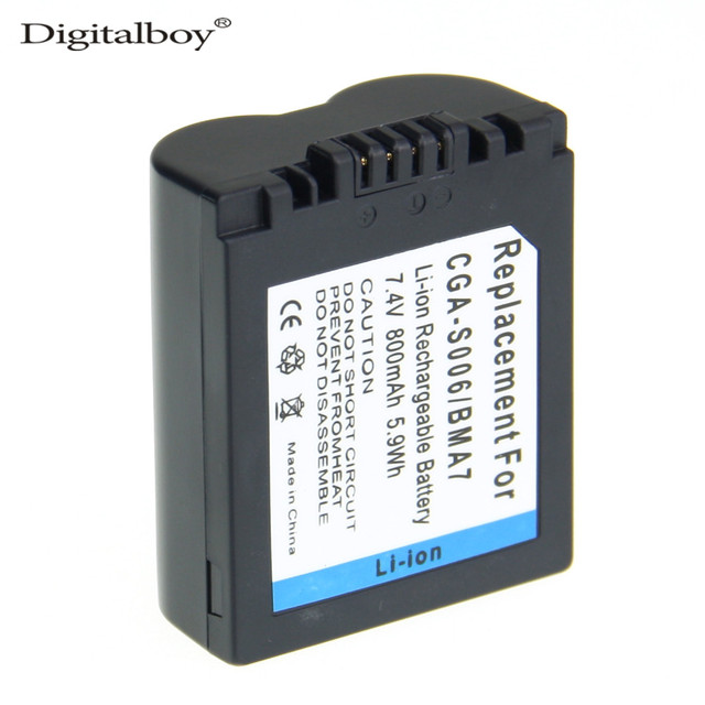 DigitalBoy 1 ШТ. CGRS006A CGA-S006E CGR-S006E CGR-S006A/1B BP-DC5U Камера Аккумулятор Для PANASONIC Lumix DMC FZ30-K FZ8EF-S FZ30-S