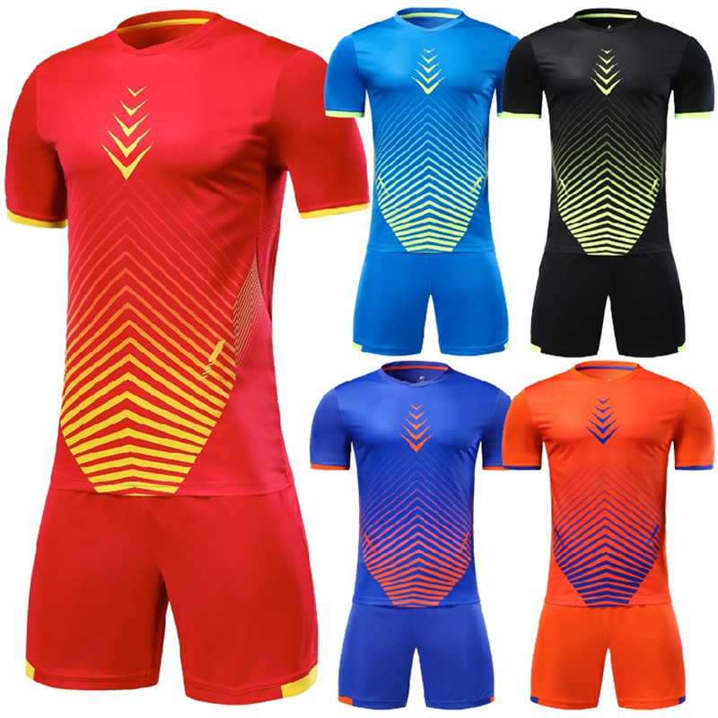 best service 9138d 0ee9b US $14.04 22% OFF|Quick Dry Men Soccer Jerseys Set Survetement Football  Training Uniforms Suit Breathable Soccer Team Jerseys Set Sport Kit  Custom-in ...