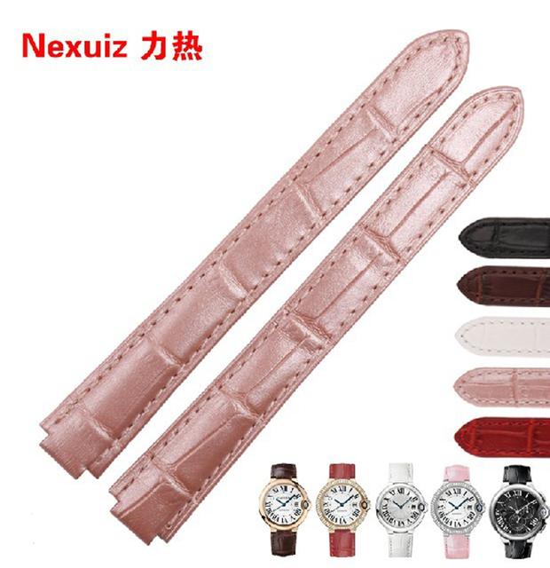 18*11mm 20*12mm Convexo final interface Especial Pulseiras Strap Para relógios de Marca Senhora Rosa Claro pulseiras fit Elegante