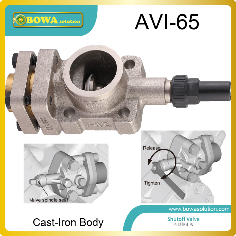 Cast-iron angle shutoff valve working as suction valves and discharges valves for 6F50.2 semi-hermetic reciprocating compressors aluminium shutoff valve as suction valve of fk20 fk30 and fkx open type compressors for mobile refrigeration and air condtioner