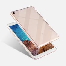 """Caso de la cubierta para xiaomi mi Pad 4 mi Pad4 8,0 pulgadas Tablet caso claro para xiaomi mi Pad4 mi pad 4 8,0 """"cubierta de vidrio templado"""