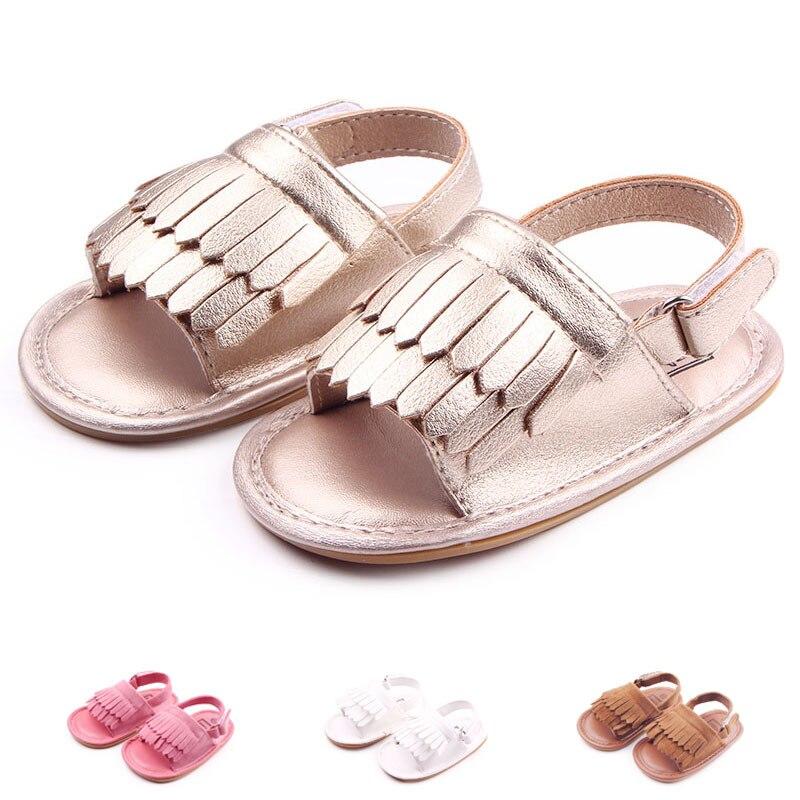 Con estilo de la pu de la borla de bebé mocasines borla zapatos de bebé girls ho