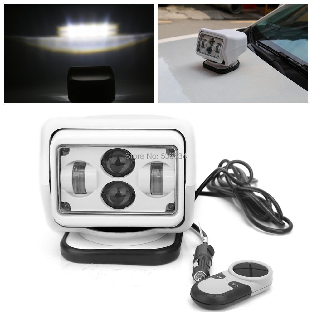 For 4X4, Marine, Camping, Boat Headlight 12v 24v led searching light 7inch 7 60W LED Remote Control Searchlight LED Spotlight