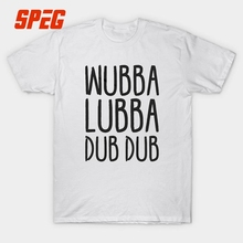 Rick and Morty Wubba Lubba Dub Dub Funny T Shirt Creative Tees Men's Short Sleeve White Casual 100% Cotton O Neck Boy's Top XXXL