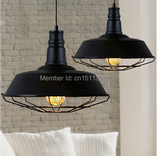 26CM Edison Vintage Industrial Black/Rust Pendant Hanging Lights for Cafe Bar Hall Club Store Gallery Balcony Dining Room Decor loft industrial vintage edison wrought iron metal net led pendant lights lamp for cafe store shop hall dining room bedroom bar