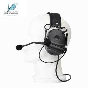 Image 4 - Z Tac Tactical Headset Peltor Comtac II Helmet Aviation Headset Airsoft  Active Headset Military Shooting Headphones Softair