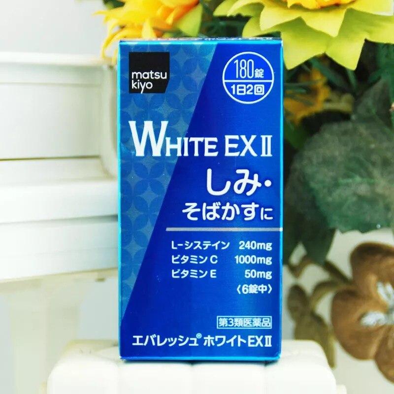 Mkm everesh white ex 180 정제 피부 미백 주근깨 일본에서-에서세럼부터 미용 & 건강 의  그룹 1