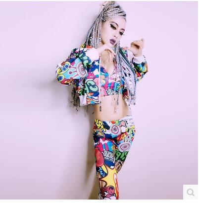 DJ певица костюм DS сексуальная одежда в стиле хип-хоп Уличный платье новый ночь поля бар Сексуальные с капюшоном из трех частей сексуальная с...