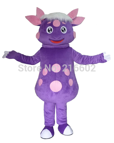 Карнавальный костюм фиолетовый Лунтик характер Маскоты костюм для взрослых Необычные платья Charactor вечерние с бесплатной доставкой;