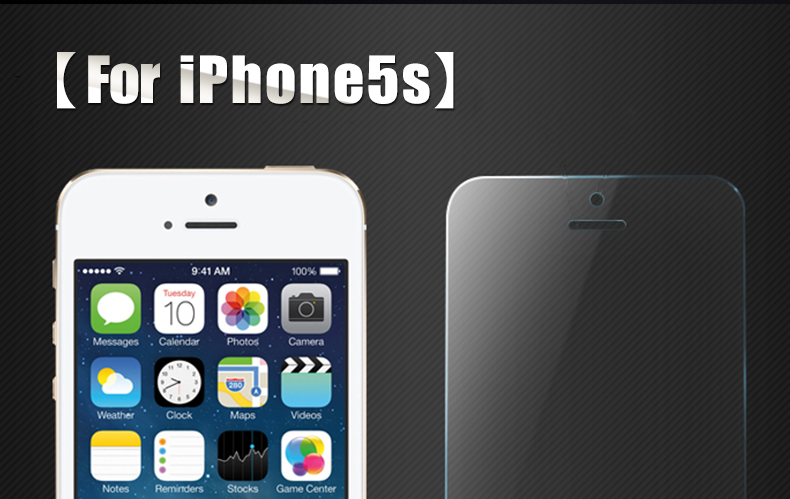CHYI for iphone 5s glass 9h hardness full coverage explosion-proof tempered glass 5S iphone on glass open the front camera hole 3
