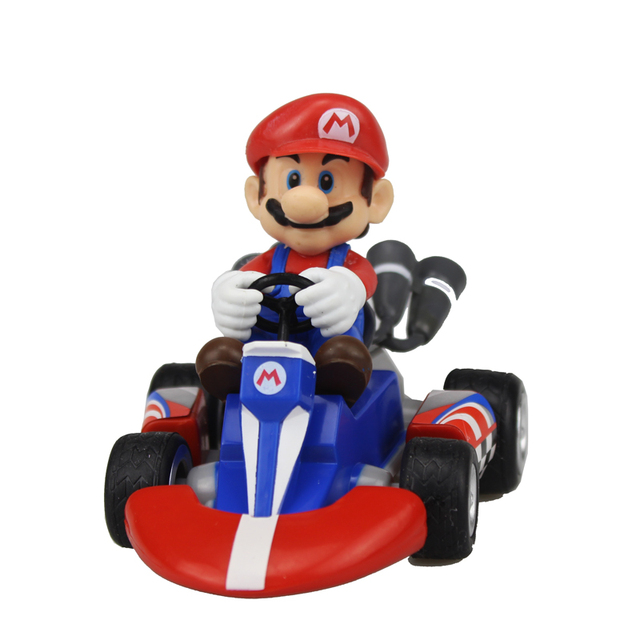 free shipping 4 game super mario kart mario pull back racers car