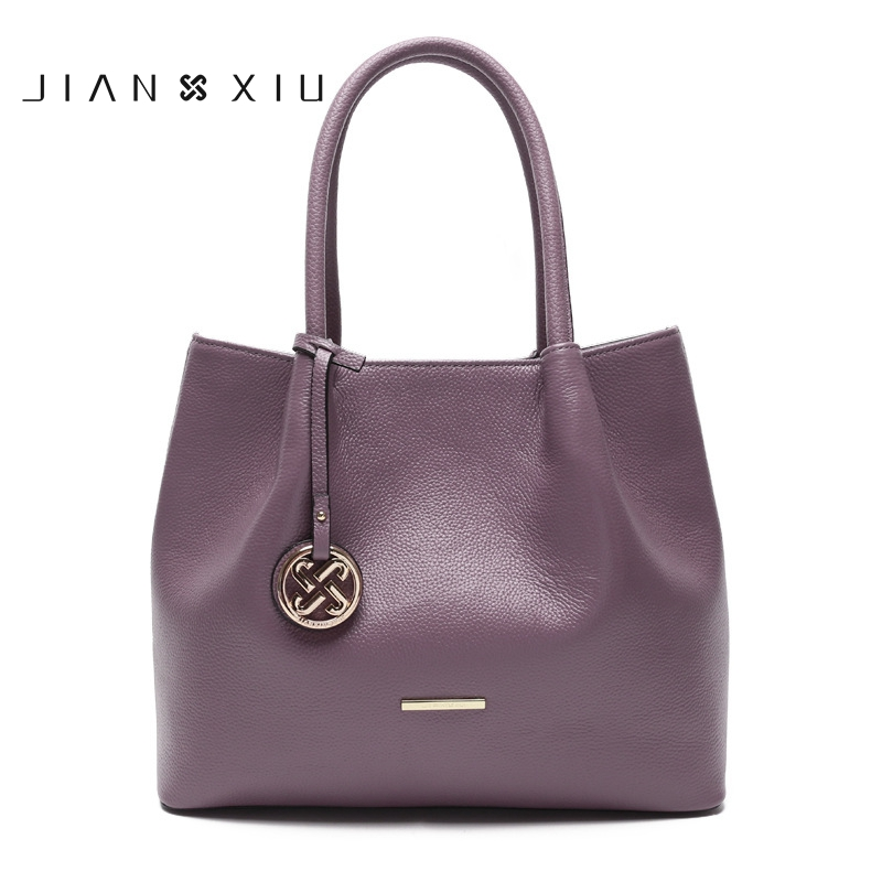 JIANXIU 2017 Genuine Leather women bags Bolsa Feminina Luxury Handbags Women Designer cowhide Ladies casual Totes Shoulder Bag luxury genuine leather bag fashion brand designer women handbag cowhide leather shoulder composite bag casual totes