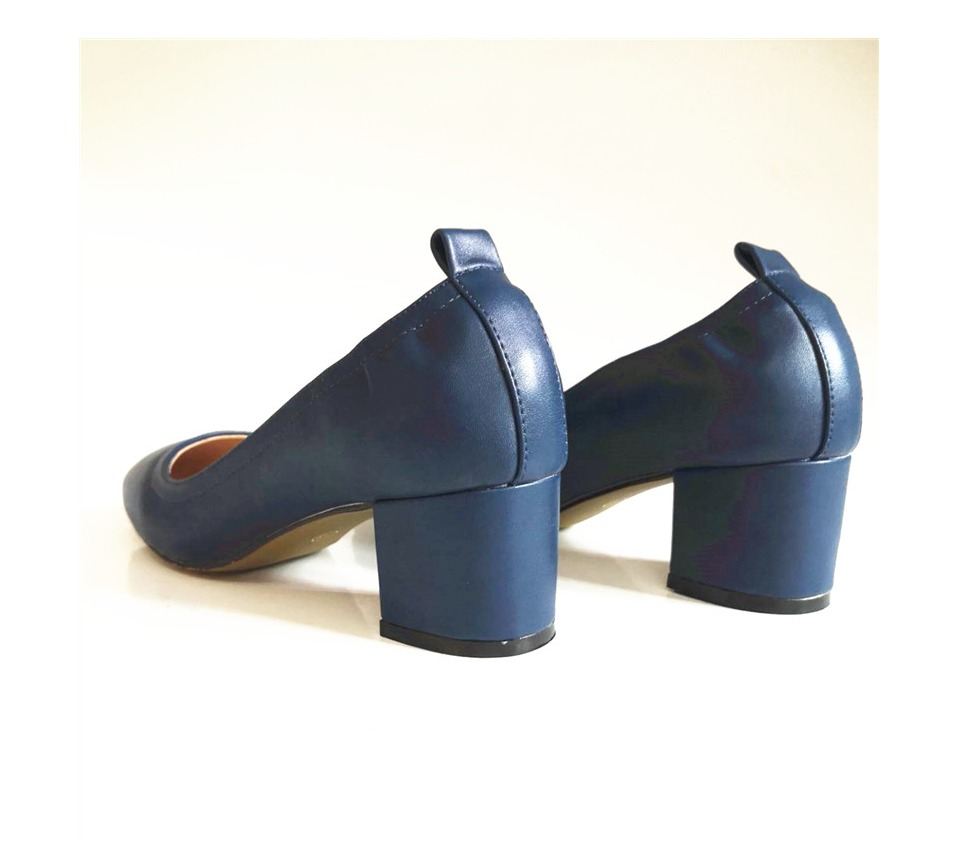 Shoes Women Genuine Leather Fashion Office and Career Rounded Toe 2-inch Block Heel Fashion Office Lady Pumps Size 34-41, K-307 56