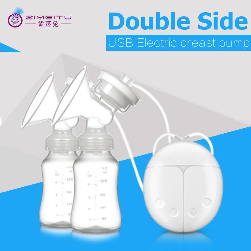 Double Side Electric Breast Pump Baby Milk Pump Nipple Suction Nipple Pump Breast Feeding Double Bottle