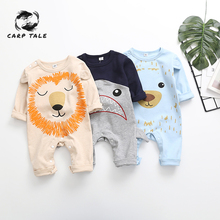 Newborn Cartoon Long Sleeve Cute Baby Autumn Winter Newborn Baby Fashion Boys and Girls 2019 New Siamese Clothes Set baby coral fleece long pants newborn warm clothes autumn and winter boys and girls trousers