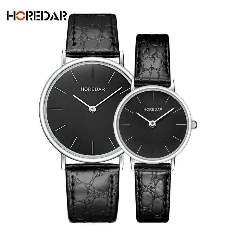 HOREDAR Luxury Quartz Watch Lovers Watche Women Men Couple Dress Watches Simple Leather Wristwatches Fashion Casual Clock Relogi carnival fashion simple couple watch men women quartz wristwatches ceramic waterproof calendar lovers watches relogio masculino