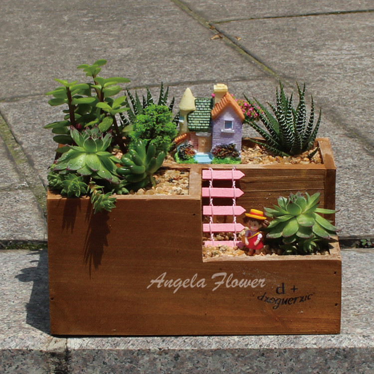 Decorative wooden trays promotion shop for promotional for Tray garden designs