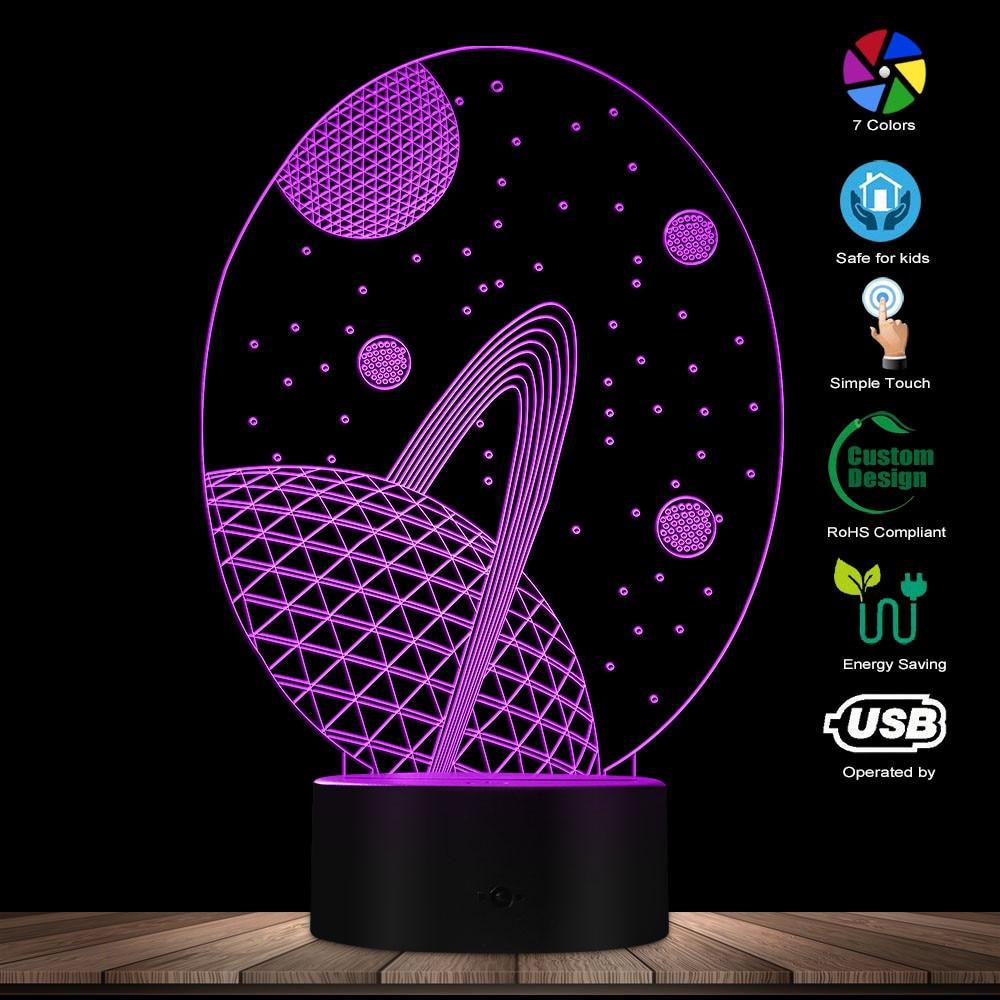 Modern Galaxy Design 3D Lamp Glowing LED Lamp Heaven Star 3D Hologram Galaxy Kid Room Night Light USB Lamp Bedroom Decor Light