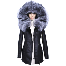 Factory Direct Supplier Winter Jacket Women Coats thick Artificial Fashion Slim Suede Female Models leather Fur Collar Fox h1z1