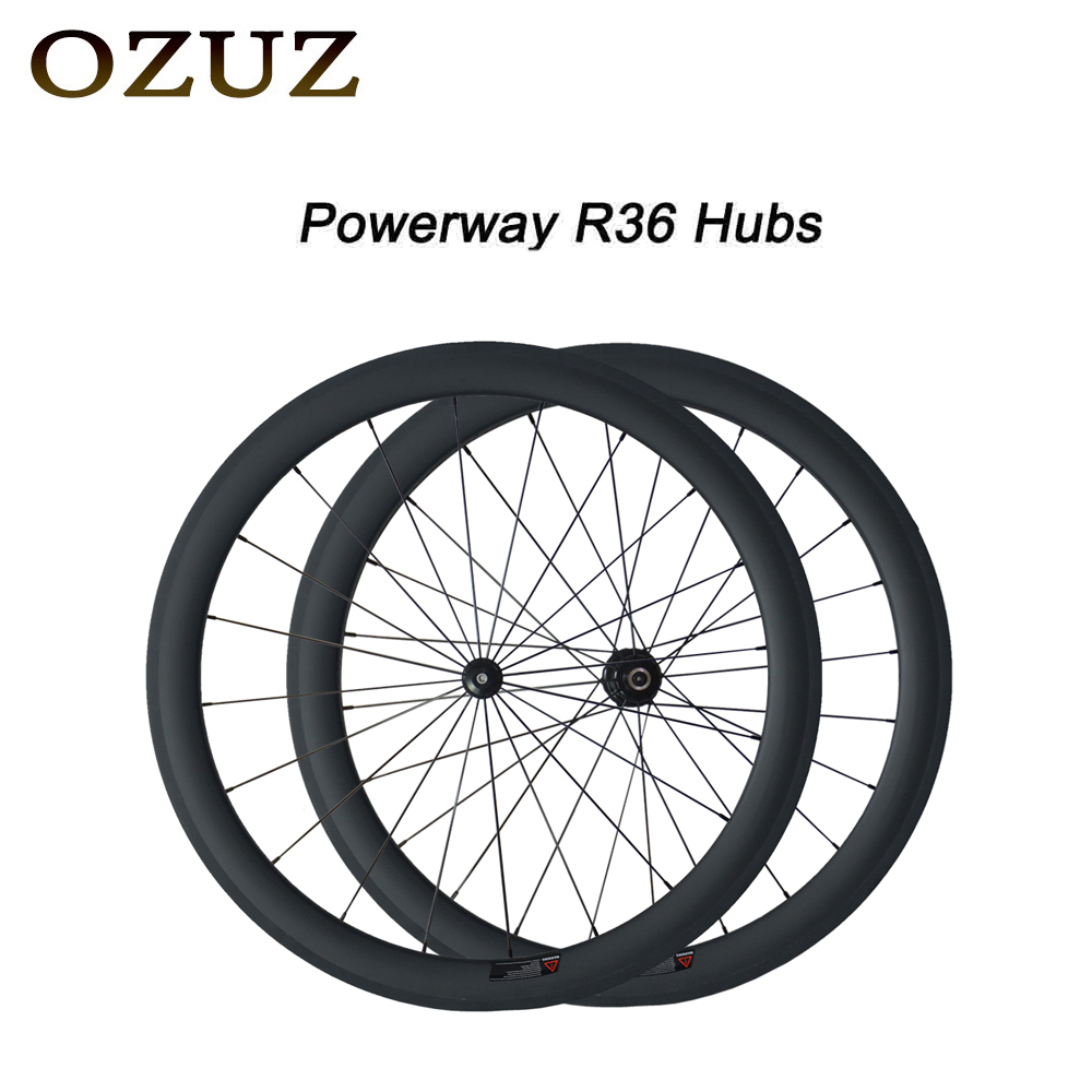 Free Custom Factory Price OZUZ 50mm Clincher Tubular Road Bike Wheelset 700C Carbon Pillar 1432 Cnpoke Cycling Carbon Wheels 2017 new carbon wheel set for road bike frame road carbon wheels free shipping 700c 50mm carbon clincher wheelset