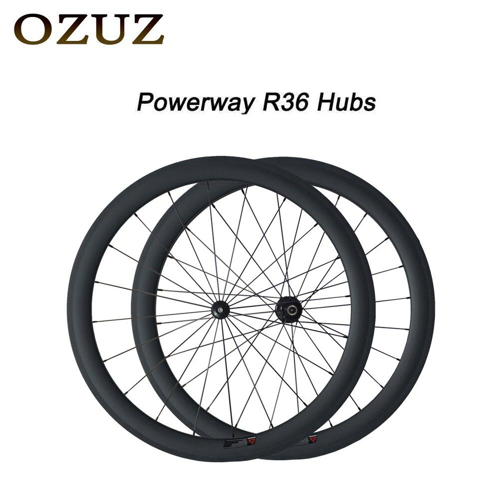 Personnalisé gratuit Usine Prix OZUZ 50mm Pneu Tubulaire Vélo de Route De Roues 700C Carbone Pilier 1432 Cnpoke Vélo Carbone Roues