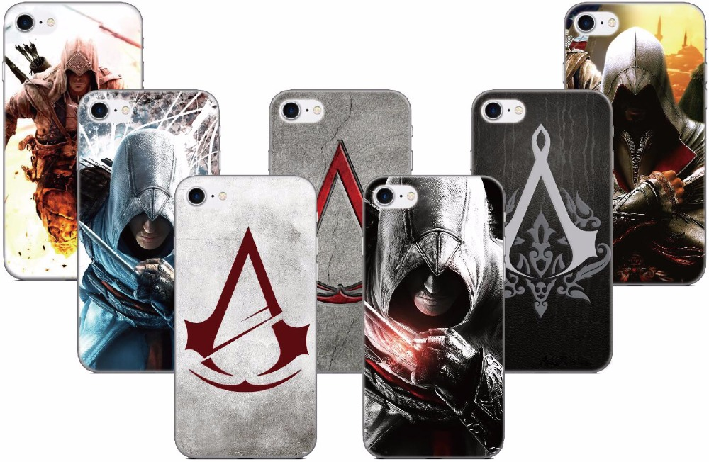 Assassins Creed Logo Case For Samsung Galaxy E5 E7 i9082 S5 S6 S7 Edge S9 Plus Note 3 4 5 Phone Cover Coque Capa Fundas Bumper