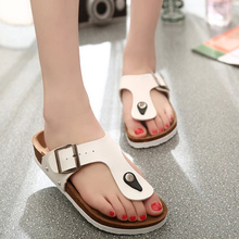 Flip Flops 2017 Summer Soft Foam Cork Sandals Slippers Women Lovers Beach Shoes Flats Slip On Sandalias Zapatos Mujer Hombre