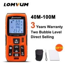 LOMVUM profesional 40 M Telémetros Láser Medidor de Distancia Láser Digital medidor de distancia de cálculo Automático de baterías