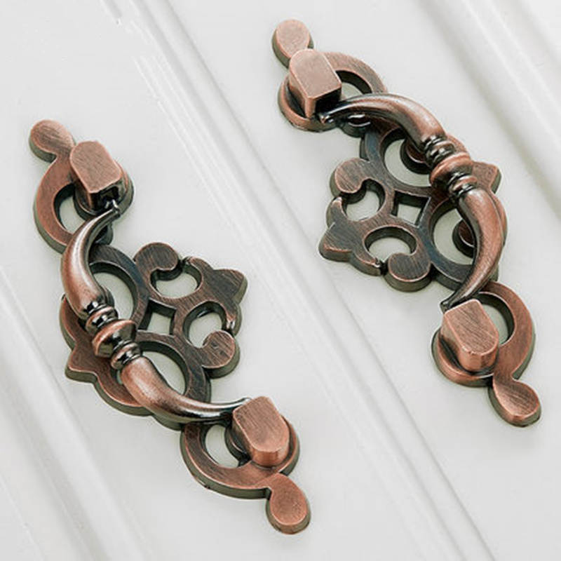 Bronze antique art hardware handles door drawer wardrobe with Furniture hardware accessories. стоимость