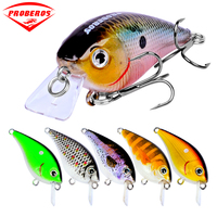 6pc Fishing lure Exported to Japan 2.2 5.6cm Fishing Bait 6.1g Crankbait 6 color fishing tackle 8# Hook
