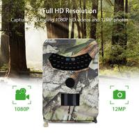 PDDHKK Photo Traps Animals Trail Camera for Hunting 12MP 26pcs 940nm IR LEDs 110 Degree PIR Angle IP56 Waterproof Night Vision