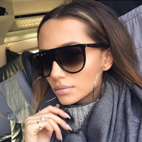 Coodaysuft Oversized Cateye Men Women Brand Designer Frame Gradient Clear Sunglasses Transparent Shades UV400 Mirror Sun