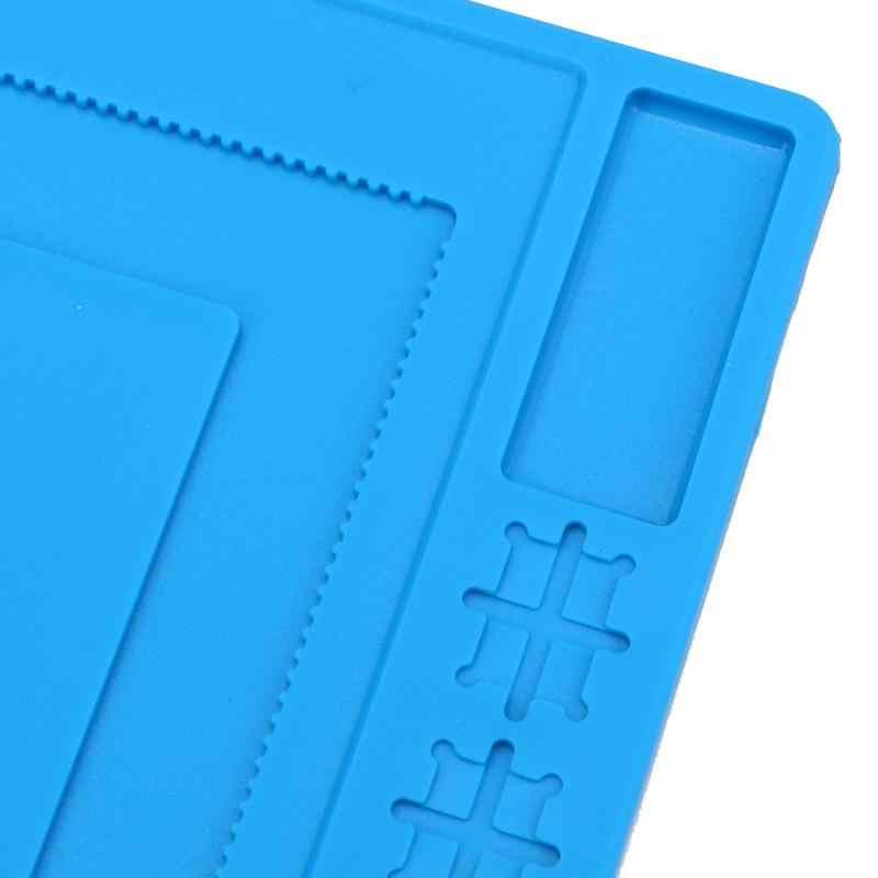 240X220 мм толщиной двойной Слои IC анти статической устойчивостью Магнитный Теплоизоляция силиконовый коврик стол коврик смартфон ремонт Pad