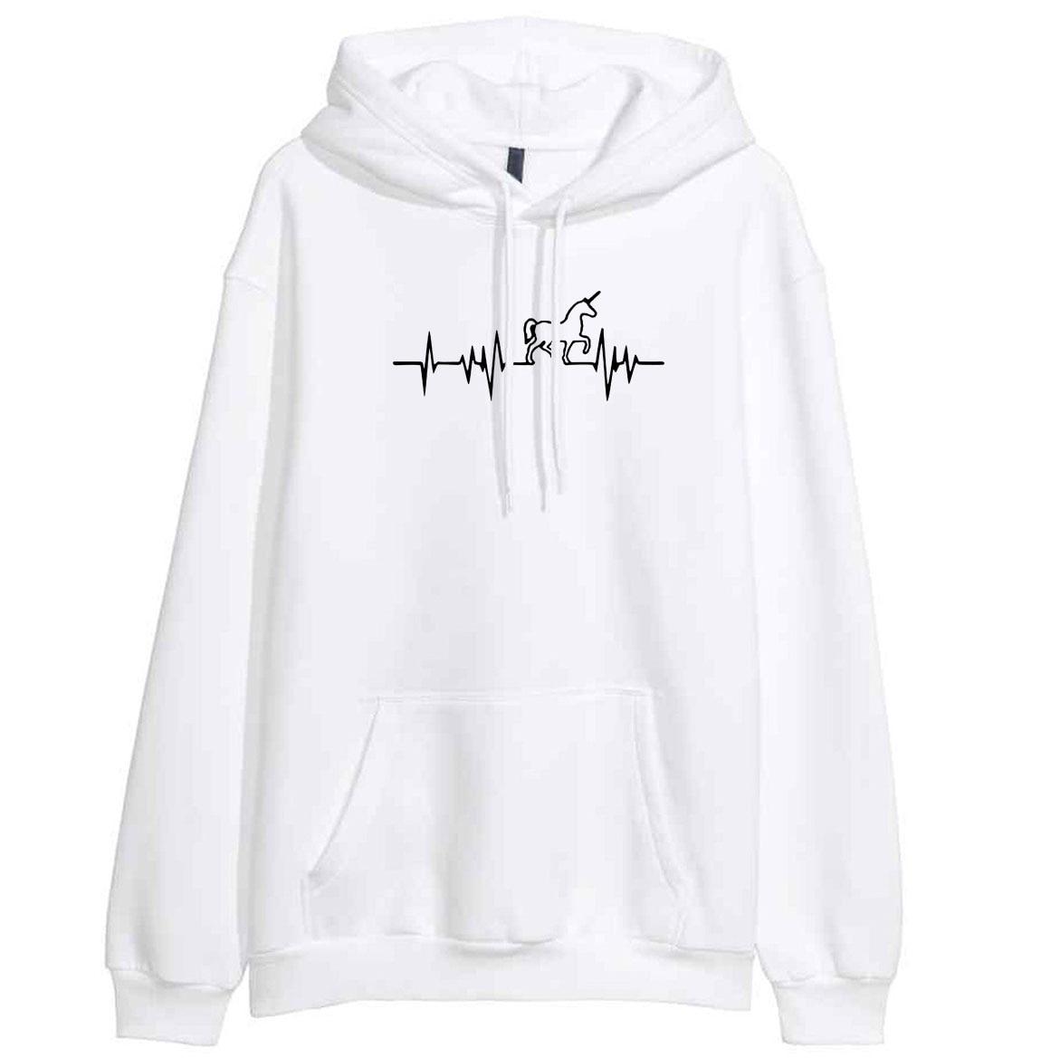 Hot Sale Women's Hoody Sweatshirts 2019 Autumn Winter Fleece Sweatshirt For Women Brand Print Unicorn Kawaii Crossfit Sportswear