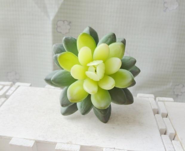 1 Unids Plantas Suculentas Joya Flor De Loto Flores Falsas Verde Diy
