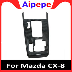 Dla Mazda CX-8 CX 8 CX8 2017 2018 ABS zmiany biegów samochodu pokrywa panelu centrum sterowania zmiany biegów rama wykończenia protector akcesoria samochodowe